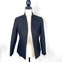 J Crew Womens Going Out Blazer Jacket Tinsel Tweed Black Wool Blend 6 K3051