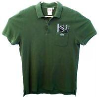 Lacoste Live Polo Shirt Mens Size 5 Small Green Special Pocket Rare Crocodile