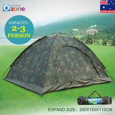 2-3 Person Folding Tent  Camo Outdoor Camping Waterproof Camouflage Hiking