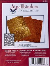 SPELLBINDERS Impressabilities FLORAL AND STONE  I2-1006 N