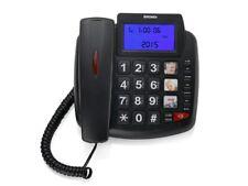 Telefono a filo  BRONDI  BRAVO 90  LCD con grande Display NERO  NUOVO
