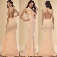 Women Turtleneck Maxi Long Dress Ladies Party Sleeveless Evening Dress Ball Gown