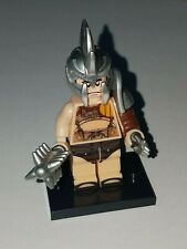 LEGO FAT GLADIATOR WITH SAW LIKE HELMET AND WEAPONS