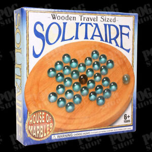 House of Marbles Wooden Travel Sized SOLITAIRE 20532