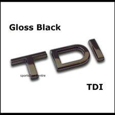 New Gloss Black TDI Badge Emblem A1 A2 A3 A4 A5 A6 A7 A8 Q5 Q7 1.6 2.0 3.0 ntdib