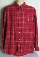 Orvis Long Sleeve Button Down Shirt Red Check Mens Large
