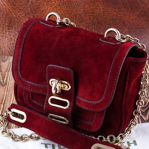 Tila March Manon Burgundy Suede Crossbody Mini bag