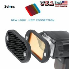 Selens Magnetic Flash Honeycomb Grid Color Filter Kit For Yongnuo Canon God
