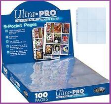 20 feuilles de classeur Ultra Pro Silver rangement cartes POKEMON  YU-GI-OH