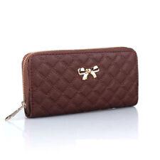 Women Zipper Leather Long Purse Coin Phone Bag Wallet Clutch Card Holder Handbag