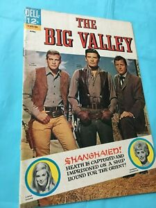 The Big Valley #4  Dell (April, 1967) HTF VG+/F