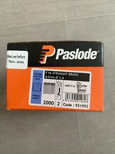 Paslode IM65 F16 Straight Brad Nails & 2 Fuel Cells 16 x 63mm Galv