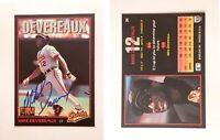 Mike Devereaux Signed 1993 Triple Play #34 Card Baltimore Orioles Auto Autograph