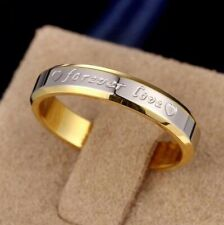 Titanium Steel Forever Love Ring Men Women Promise Couple Wedding Band Rings