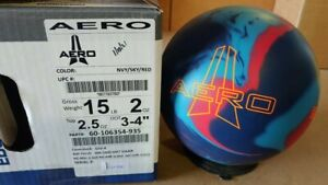 NEW 15lb Ebonite AERO Solid Reactive Bowling Ball 12088