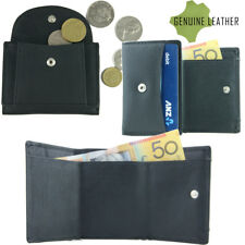 Genuine Full Grain Leather Tri-fold Mens Wallet