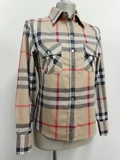 "Burberry London check shirt in classic beige, brown, red & black S 34"" B UK10"