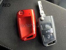 LUCIDO involucro Protector Case 3 pulsante Flip Portachiavi VW MK 7 GOLF SEAT SKODA