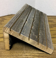 Earring Card Holder in Weathered Wood  - Earring Stand - Earring Card Display