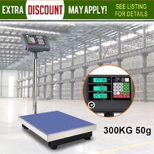 300kg 50g Electronic Digital Platform Scale Computing Shop Postal Scales Weight