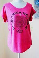 NWT Lucky Brand Wom XL MAGENTA PINK California Republic Bear TOP TEE SHIRT SH
