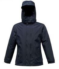 "Regatta Rg250 Junior Kids Squad Jackets Childrens Polyester Waterproof Snow Suit Navy 32"""