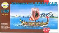 SMER 0902, Wikingerschiff DRAKKAR,Langboot der Nordmänner, Bausatz 1:60,OVP,NEU