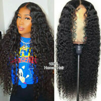 20'' Black 9A Virgin Malaysian Human Hair Lace Front Wig with Baby Hair Wigs US