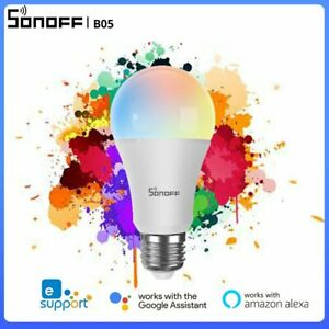 SONOFF B05 RGB LED Smart Wifi Wireless Light Bulb E27 Dimmable with Alexa Google