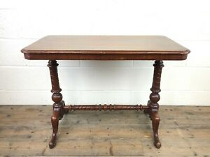Victorian Mahogany Occasional Table with Stretcher (M-1312) - FREE DELIVERY*