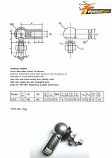 1 x Kugelgelenk / Winkelgelenk mit Dichtung CS LH DIN 71802 M6 Linksgewinde