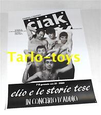 ELIO E LE STORIE TESE - Teatro Ciak, Milano italy 7 gennaio 1989 poster concerto