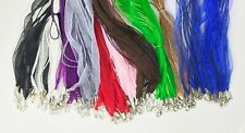 "100 Qty Organza Ribbon Cord Necklace 18-20"" Mixed & Match Or Pick Your Colors"