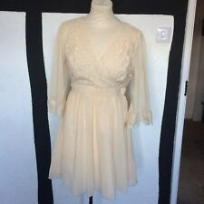 Little Mistress Brand New Nude Wrap Dress Prom Wedding Occasion  - Size 14