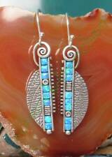 Pendientes indio Cristal Espiral Turquesa kreissegment al estilo
