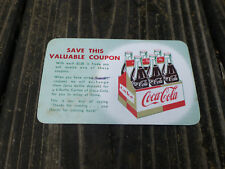 Vintage Coca Cola Coupon for 6-bottle carton with 6 of these
