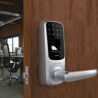 Ultraloq UL3 Fingerprint and Touchscreen Keyless Smart Door Lock, Satin Nickel