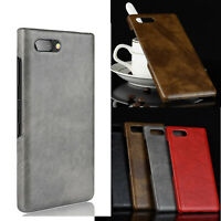 Leather Back Case for BlackBerry KEY2  Unlocked Smartphone 64GB Cover