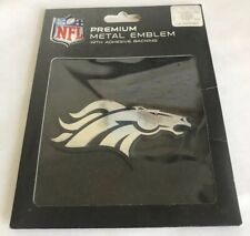 Denver Broncos, Auto Emblem | Adhesive Decal (Metal, Silver) *FREE SHIPPING*