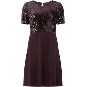 Dorothy perkins skater dress uk 14 women's purple sequin ladies party