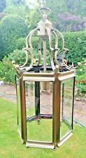 Stunning Large Vintage Style Antique Brass Hall Lantern