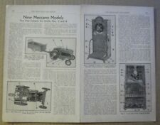 Meccano models - Tractor & weighing machine plans - 1952 - 20 x 28 cm WALL ART