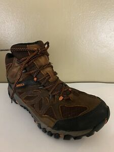 Merrell Mens All Out Blaze Ventilator Mid Waterproof Burnt Maple Shoes Size 10