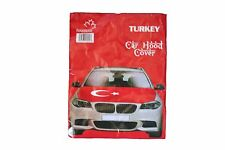 Turkey Country Flag Car Hood Cover . High Quality . New