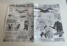 MMPR POWER RANGERS RED DRAGON THUNDERZORD MANUAL PART(S)