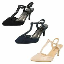 SALE ANNE MICHELLE LADIES F9888 STILETTO MID HEEL BUCKLE ANKLE STRAP T BAR SHOES