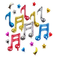 2Pcs Musical Note Mylar Foil Balloons Baby Shower Favor Wedding Party Decoration