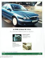 PUBLICITE ADVERTISING 016  2002  JAGUAR  la X-Type 2 V6