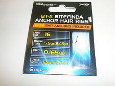 Greys Prodigy 3pks x BT-X Bait Anchor Hair rigs to nylon sz10 - 6.5lb Barbless