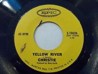 Christie Yellow River / Down The Mississippi Line 45 Epic Vinyl Record